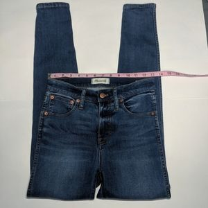 """Madewell 9"""" high rise skinny jeans Paddy Wash 26"""